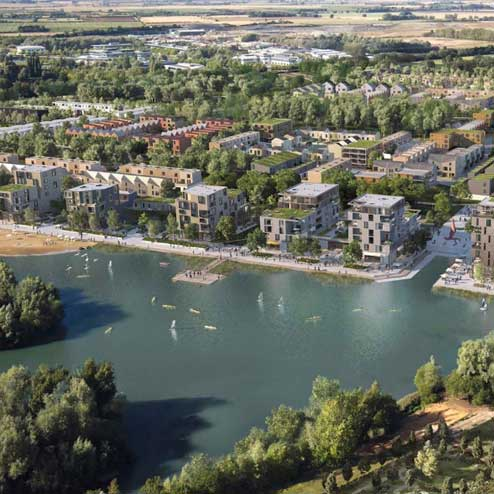 The vision for the lake at Waterbeach Barracks